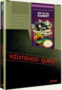 Die DVD von Nintendo Quest erscheint im stilvollen NES-Modul-Design